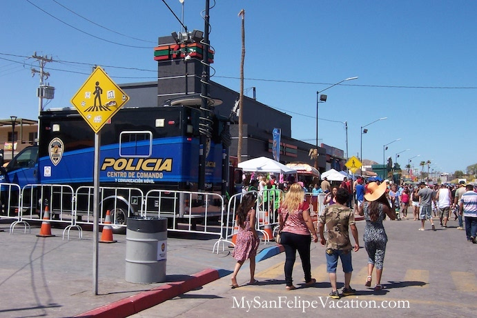 Security in San Felipe during Holidays