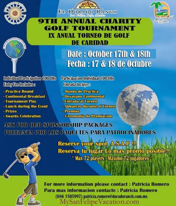 9th Annual Charity Golf Tournament El Dorado Ranch San Felipe