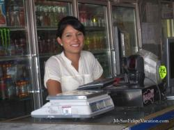 Alicia's Drive-through grocery store San Felipe - Cashier