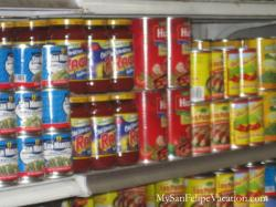 Alicia's Drive-through grocery store San Felipe - Canned Food