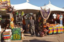Carved parrot, Palm Tree carvings for sale - San Felipe Shrimp Festival