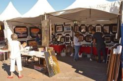 2014 San Felipe Shrimp Festival - Art stand with paintings