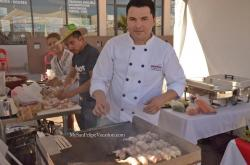 2014 San Felipe Shrimp Festival - Chef preparing grilled sauted shrimp