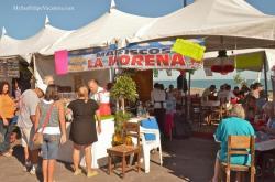 La Morena stand at the 2014 San Felipe Shrimp Festival