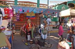 Native Indian musicians performing at the San Felipe Shrimp Festival