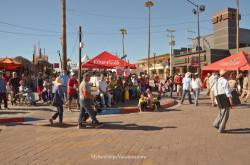 Guests walking on the Malecon at the 2014 San Felipe Shrimp Festival