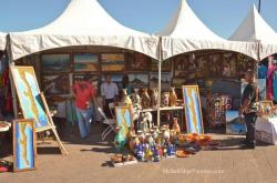 Paintings for sale at the San Felipe Shrimp Festival 2014