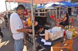 San Felipe Shrimp Festival - Shrimp on BBQ Grill