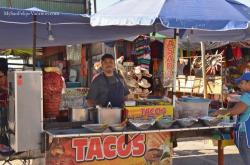 Taco stand at 2014 San Felipe Shrimp Festival