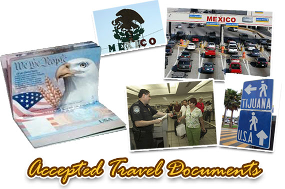 Accepted travel documents for crossing the US-Mexico border