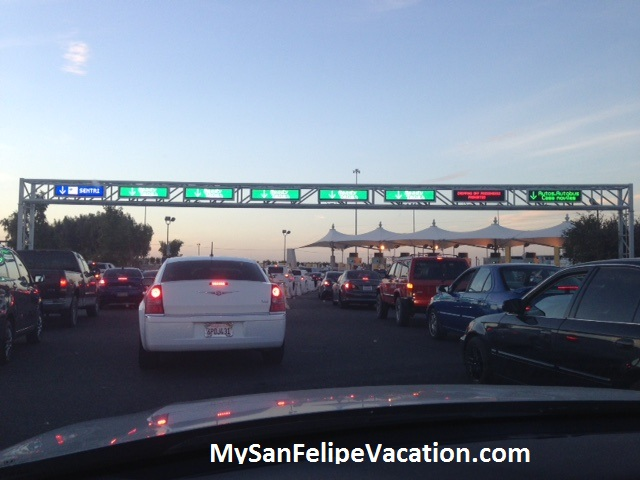 Drive from San Felipe to Calexico-East border crossing