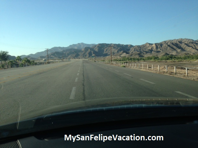 San Felipe-Mexicali road conditions December 2012